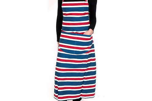 Striped Apron - Red, White & Blue Mix