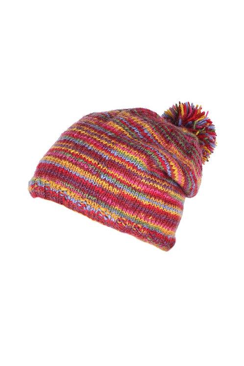 Stripy Bobble Hat