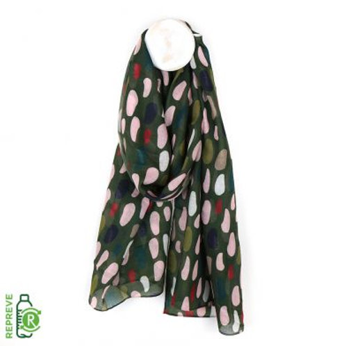 Multi Oval Print Scarf - Made from Plastic Bottles