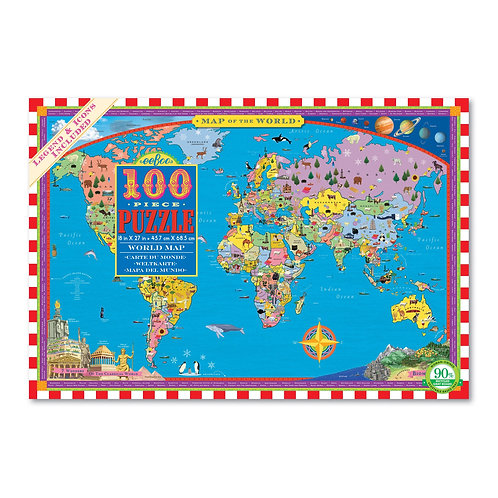 World Map Puzzle - 100 Piece