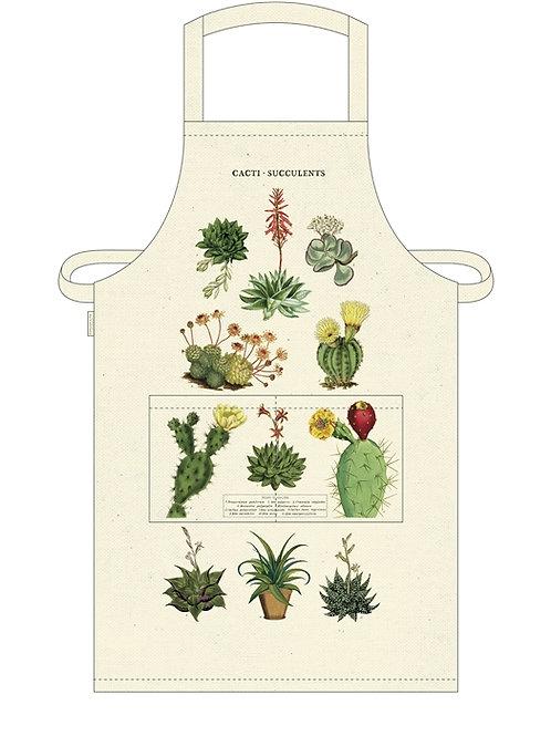 Cavallini Apron in Succulents Design