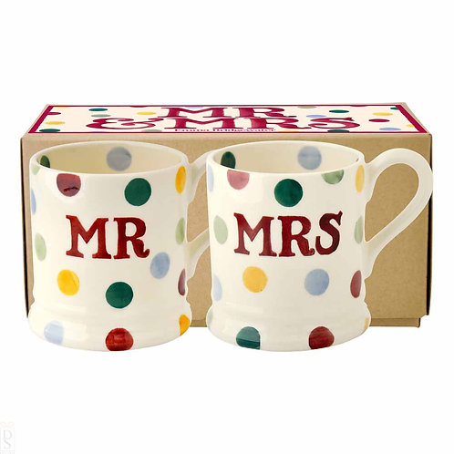 Emma Bridgewater Polka Dot 'Mr & Mrs' Set