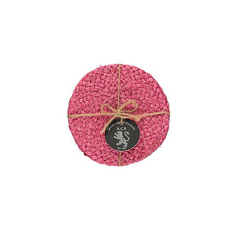 Jute Coasters in Neyron Rose