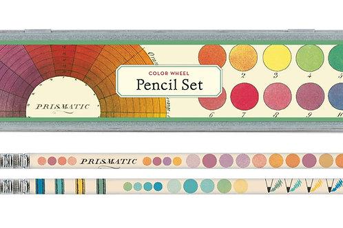 Cavallini Pencil Set in Colour Wheel Design
