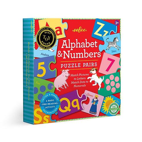 Alphabet & Numbers Puzzle Pairs
