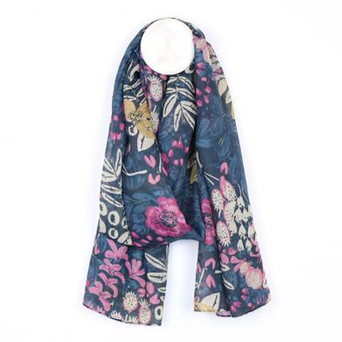 Floral Print Scarf - Made from Plastic Bottles