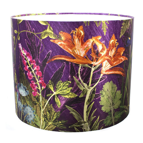 Lampshades in Purple Floral Design