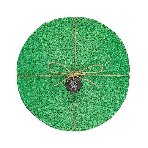 Jute Placemats in Grass Green