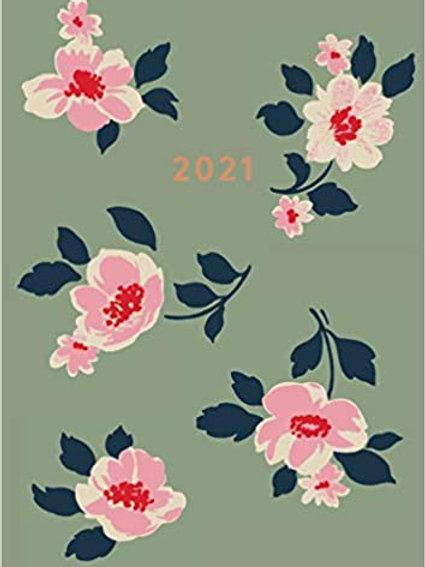 Cath Kidston A6 Diary 2021 - Khaki Dusk Floral