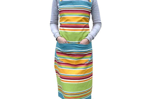 Striped Apron - Yellow, Green, Red, Blue Mix