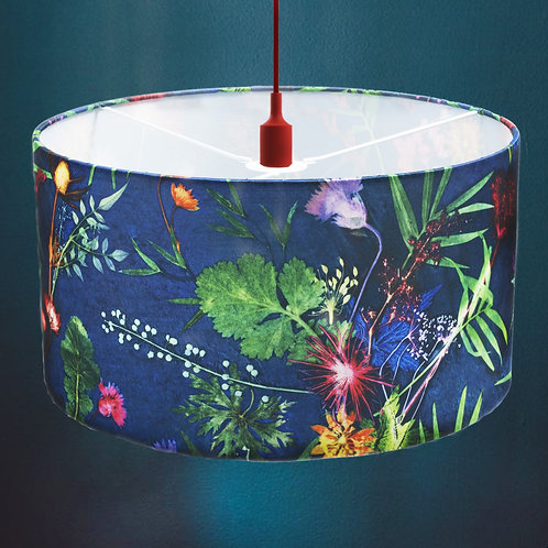 Lampshade in Navy Floral Design - 45cm