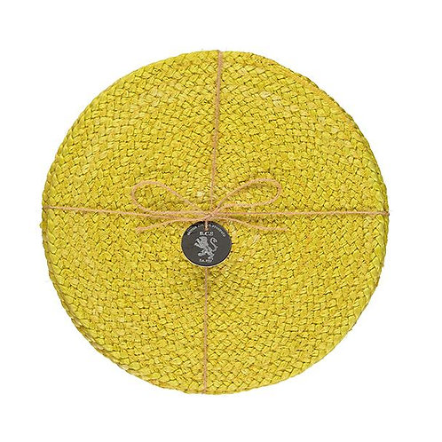 Jute Placemats in Sulphur Yellow