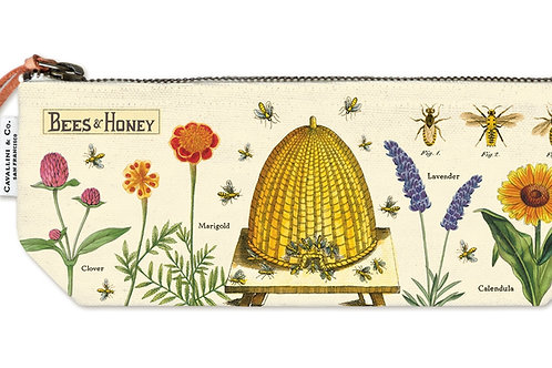 Cavallini Pouch in Bees & Honey Design - Small
