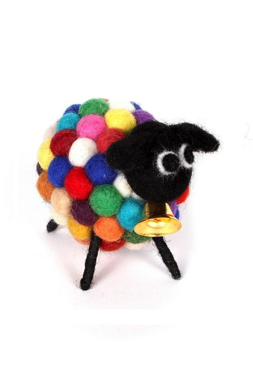 Psychedelic bobbly lamb decoration