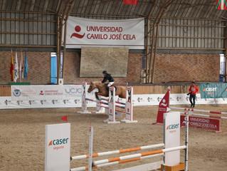 Elena Pérez, en el campeonato de España de ponis