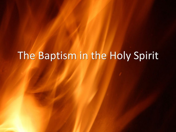 The Baptism in the Holy Ghost