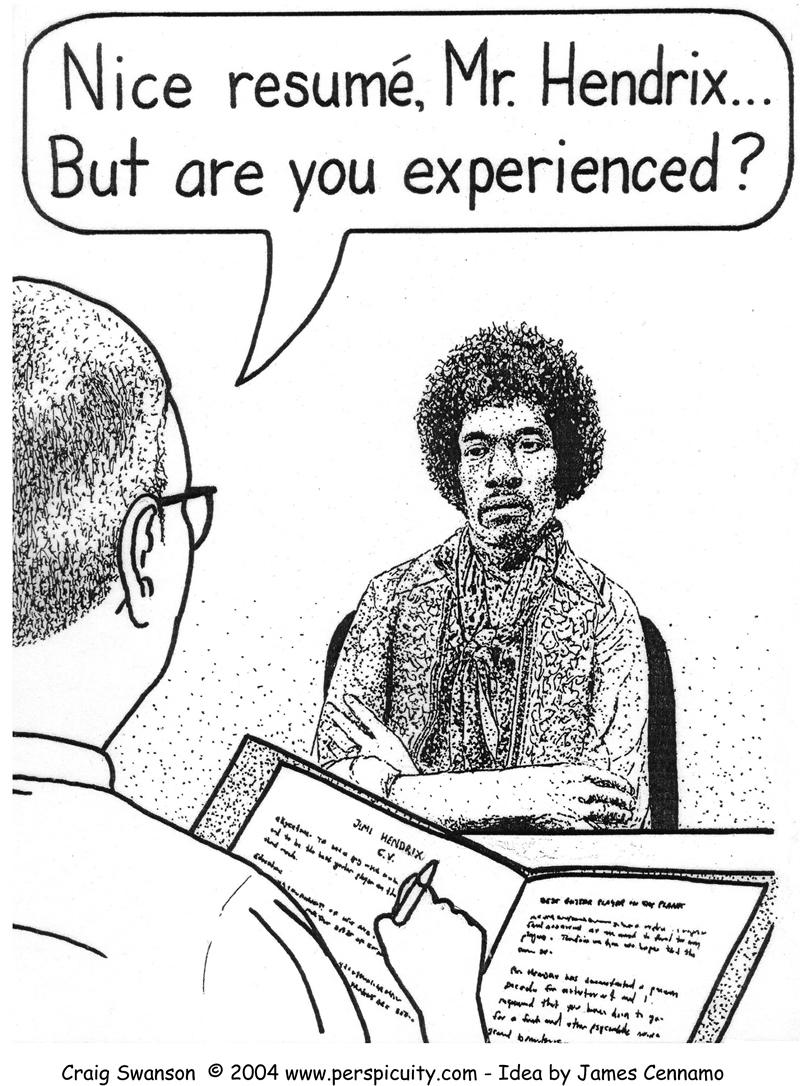 Nice Resumé, Mr. Hendrix...