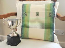 Winning Eisteddfod cushion