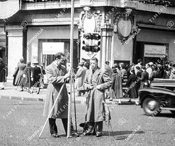 Levelling in Oxford Street 1950s