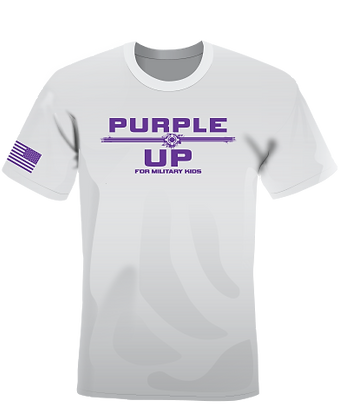 Purple Up! For Military Kids -Gray