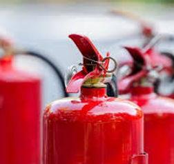 Extincteur protection incendie alerte eau feu