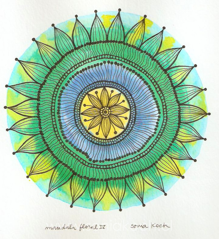 Mandala Floral IV