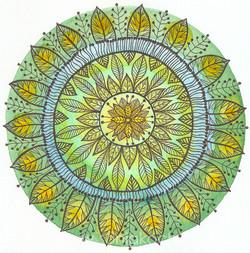 Mandala Hojas II