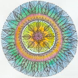 Mandala Hojas III