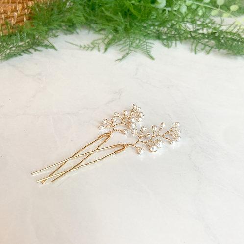 Gold Pearl Bridal Hair Pins