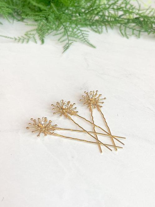 Gold Star Hair Pins
