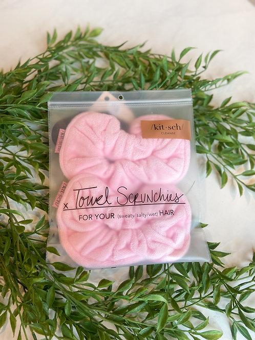 /kit•sch/ Towel Scrunchie Pink