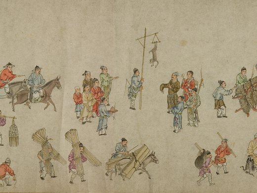 Hand scroll | 'Monkey performing'