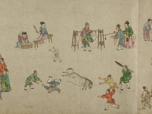Hand scroll | 'A man falls off a frightened horse'