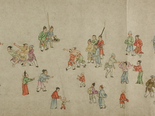 Hand scroll | 'Two men are fighting'