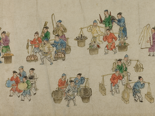 Hand scroll | 'puppeteer troupe'