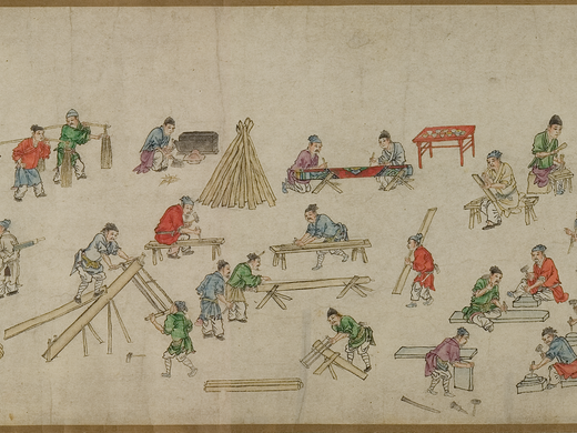 Hand scroll | 'Masons and carpenters'