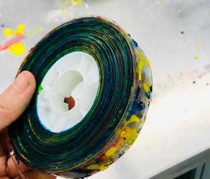 dyed filmstripe