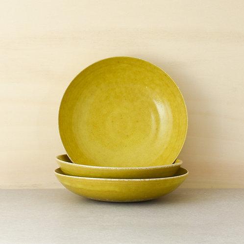 Talíř polévkový žlutý