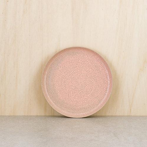 Talíř dezertní růžový kraklovaný