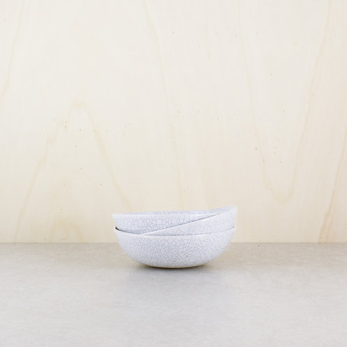Misky bílé kraklované ∅ 14 cm