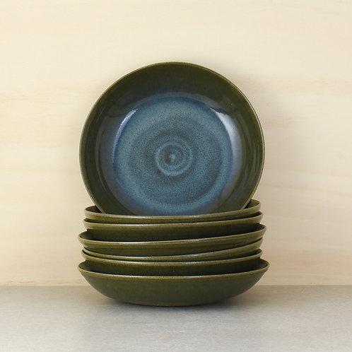 Talíř na pastu nebo polévku s vnitřkem do modra