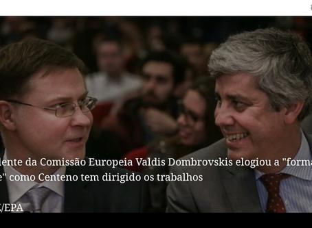 """""""Dombrovskis elogia trabalho de Centeno em Portugal e na Europa"""""""