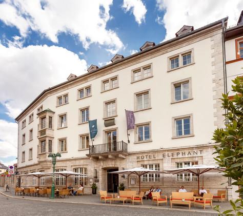 Außenansicht des Hotel Elephant in Weimar