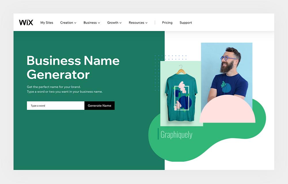 Wix eCommerce business name generator