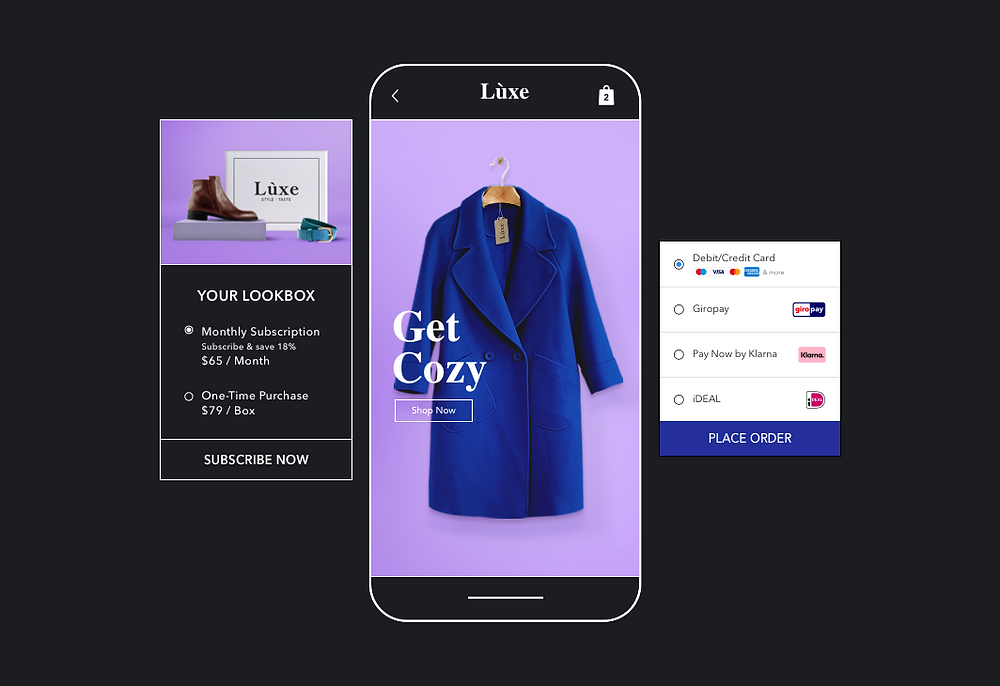 payment option suggestions for a green coat