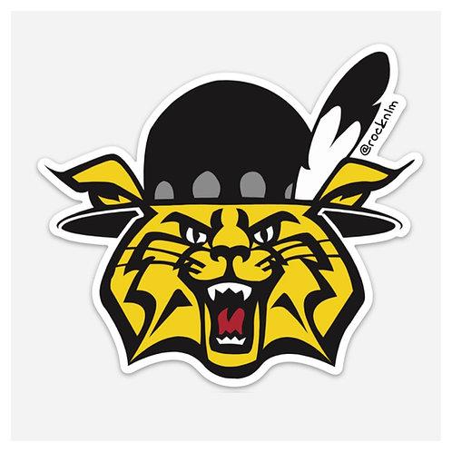Old School Wildcat Sticker
