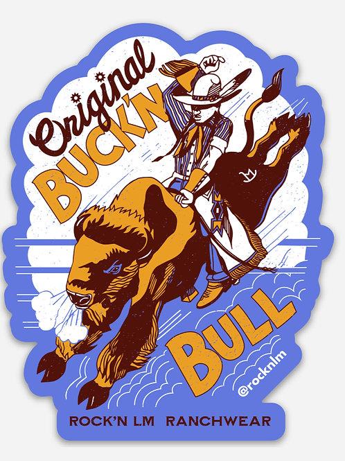 Original Buck'n Bull Sticker