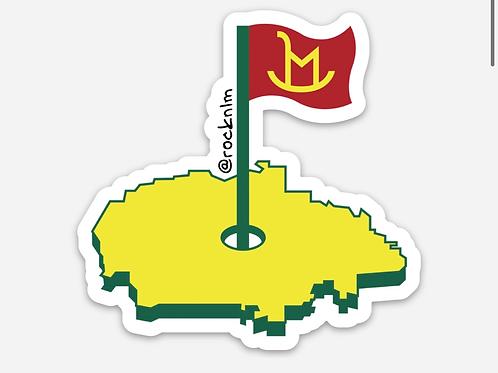 Rock'n LM Rez Golf Sticker
