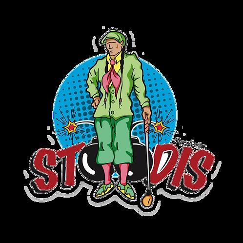 Golfer Stoodis Comical Sticker