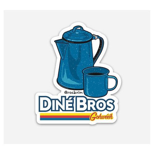 Kettle & Cup Dine' Bros Sticker